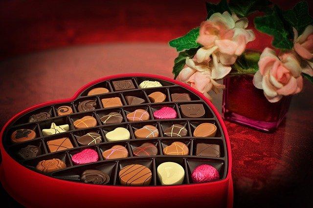 čokoláda na den svatého valentýna